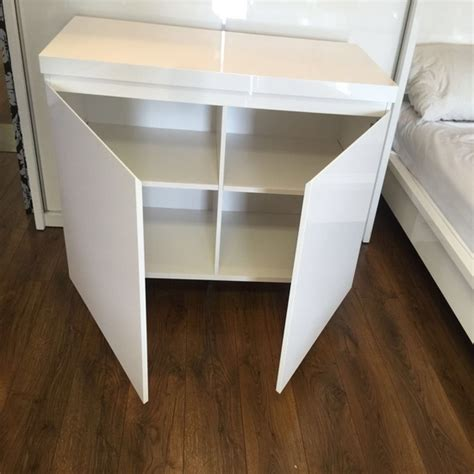 Small White High Gloss Sideboard by Sydney Small Sideboard In High Gloss White With 2 Doors