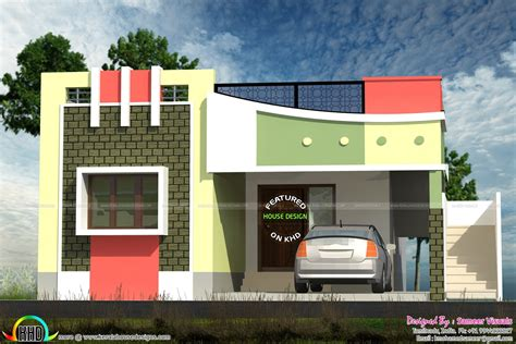 Front Elevation Of Small Houses In India