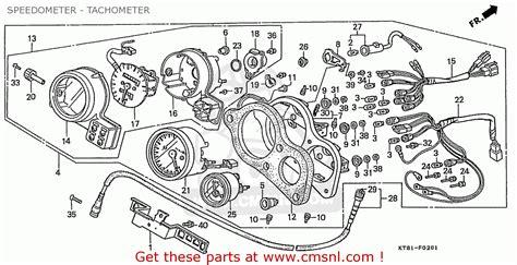 honda cbr400rr 1989 k domestic nc23 109 speedometer tachometer schematic partsfiche