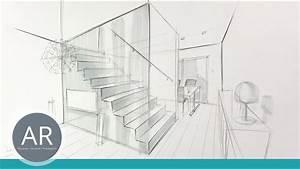 Perspektive Zeichnen Raum : innenarchitektur zeichnungen r ume perspektivisch zeichnen lernen bewerbungsmappe ~ Orissabook.com Haus und Dekorationen