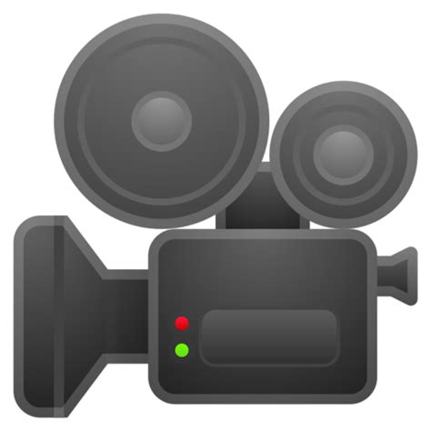 camera de cinema emoji