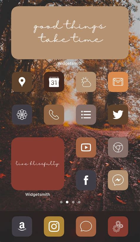 warm fall aesthetic iphone ios 14 app icons home screen
