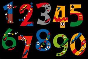 Numbers, Superhero, Graphic, By, Darrakadisha