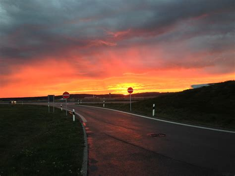 Sunrise on the road free image download