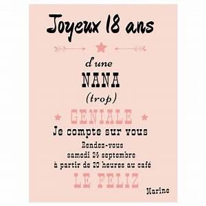 Quoi Offrir Pour Une Naissance : invitation anniversaire 18 ans faire part magnet ~ Melissatoandfro.com Idées de Décoration