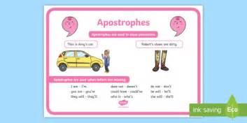 apostrophes punctuation poster apostrophes punctuation