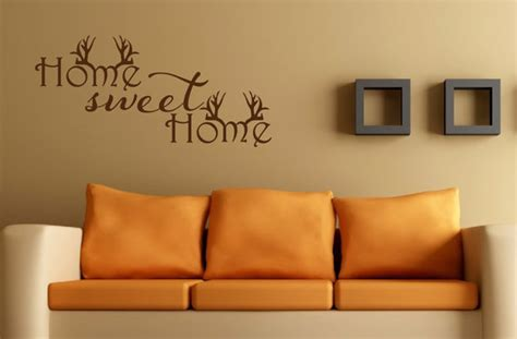 00s Home Decor : Home Sweet Home Wall Decal Antler Decor Hunting By