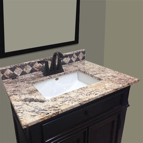 Bathroom Sink Tops Menards by Impressions 31 Quot X 22 Quot Golden Beaches Vanity Top At Menards 174