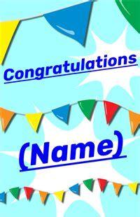 printable congratulations creative center