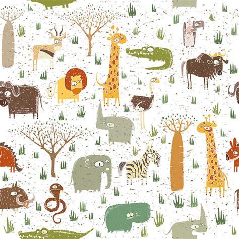 Kinderzimmer Deko Panel by Vlies Tapete Rollen Kinderzimmer Tiere Afrika Deko Panel