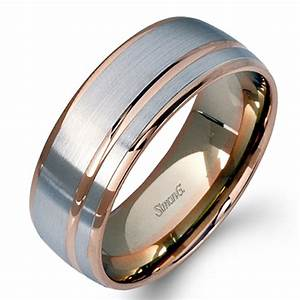 simon g engagement rings contemporary men39s two tone modern With contemporary mens wedding rings