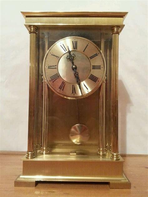 vintage schmid schlenker  jewel german brass shelf clock