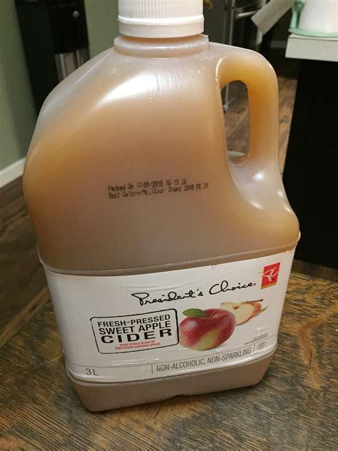 choice apple cider president sweet fresh pressed juice presidents chickadvisor