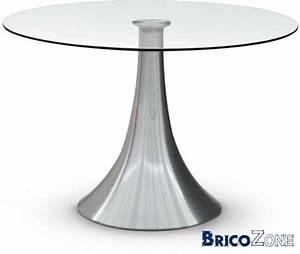 Table Ronde En Verre Pied Central : pied central pour table ronde ~ Teatrodelosmanantiales.com Idées de Décoration