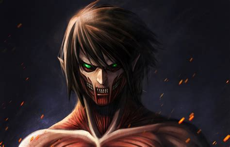 attack  titan eren yeager wallpapers wallpaper cave