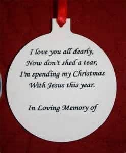 ornament to remember a loved one memorial ornament to put on tree to remember your loved ones memorial