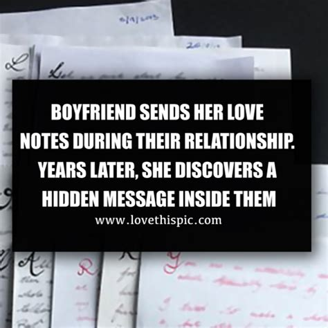 boyfriend sends  love notes   relationship