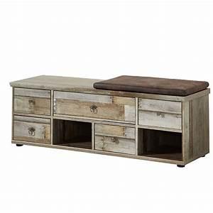 Sitzbank Flur Vintage : garderobenbank mit sitzlpolster vintage driftwood branson ~ Watch28wear.com Haus und Dekorationen