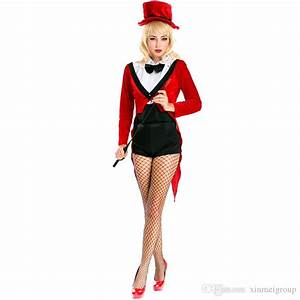 Sexy Red Magician Costume For Women Halloween Animal ...