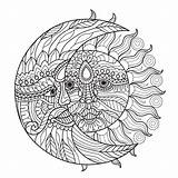 Lua Adultos Mond Kolorowanki Maan Lune Vettori Pagine Slonce Zon Unicorno Viento Sterne Abbracciano Whitesbelfast Cuppaiprecpi Stylized Doroslych Ksiezyc Livro sketch template