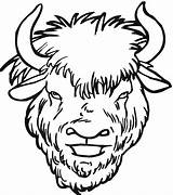 Buffalo Coloring Face Clipart Drawing Yak Cheetah Bison Head Clip Clipartmag sketch template