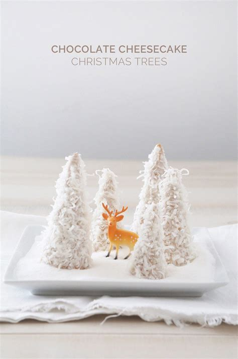 chocolate cheesecake christmas trees the sweetest occasion
