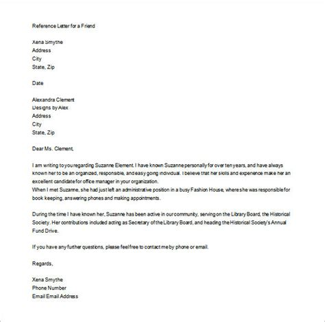 write  personal letter  recommendation rota