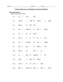 Balancing Chemical Equations Worksheet Answers