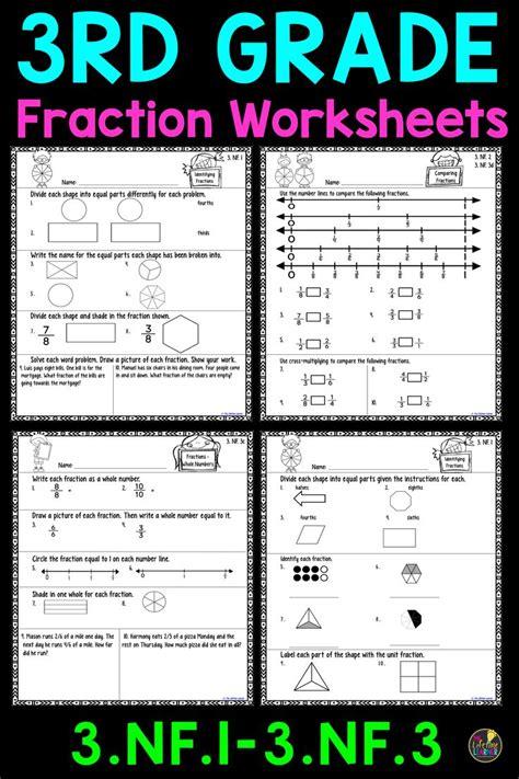 grade fraction worksheets fractions worksheets