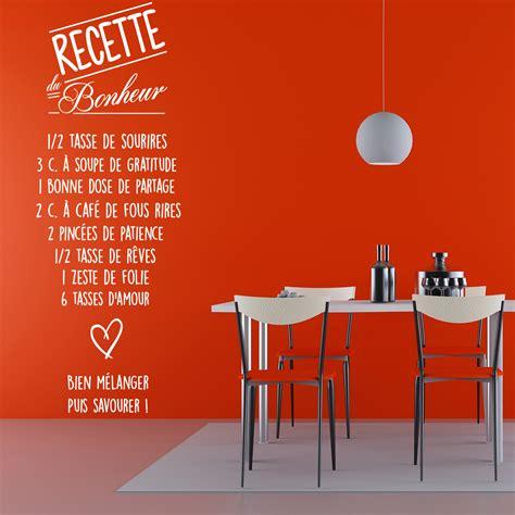 stickers texte cuisine sticker citation recette du bonheur stickers citations