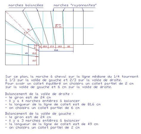 calcul escalier en ligne balancement simple
