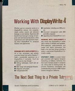 Displaywrite 4  Working With  Instruction Manual