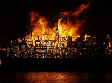 Massive Replica Of London Set On Fire For Great Fire Anniversary  Metro News