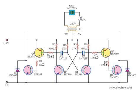Simple Inverter Circuit Diagram Using