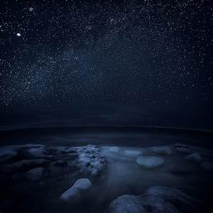 photography winter sky landscape night stars nature sea ...