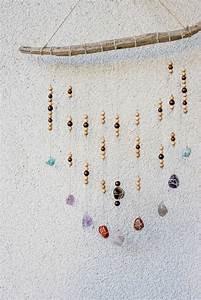 Wanddeko Für Den Garten : diy wanddeko mit steinen und holzperlen green bird diy ~ A.2002-acura-tl-radio.info Haus und Dekorationen