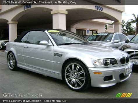 2005 Bmw M3 Convertible by Titanium Silver Metallic 2005 Bmw M3 Convertible Grey