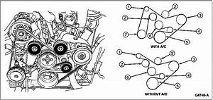 I Need A Diagram Showing Routing Of Serpentine Belt In