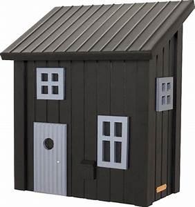 postkasten wildlife garden wg310 schwarz briefkasten holz With katzennetz balkon mit wildlife garden