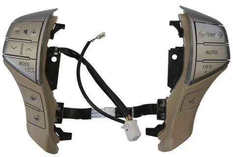 toyota avalon steering wheel audio hvac controls