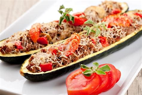 Italian Stuffed Zucchini Boats With Ground Beef Tomatoes Mozzarella by Veggie Boats Sausage Stuffed Zucchini 12 Tomatoes