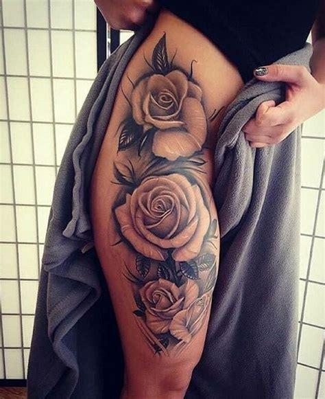 rose tattoo thigh ideas  pinterest thigh tattoos hip thigh tattoos  hip tattoos
