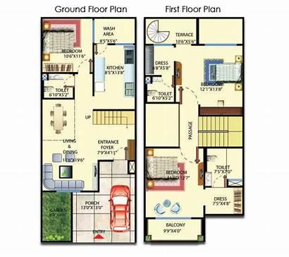 Plan 20x50 2bhk Plans Floor Duplex 20x30