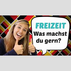 German Lesson 50 Was Machst Du In Deiner Freizeit?  German Freetime Vocabulary Youtube