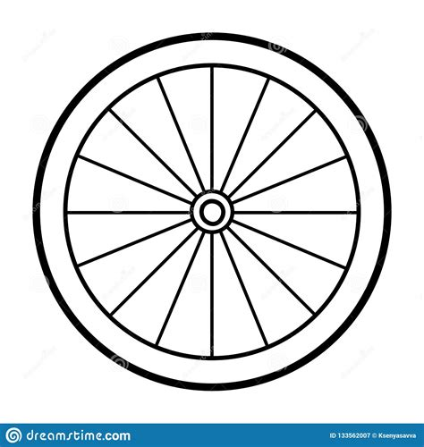 coloring book bicycle wheel stock vector illustration