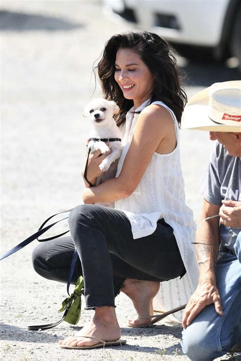 olivia munn takes her dogs for a walk in between filming ...