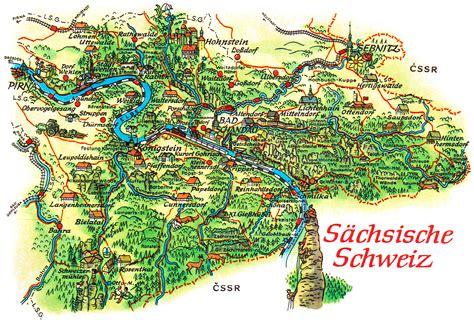 Sächsische Schweiz Karte Deutschland