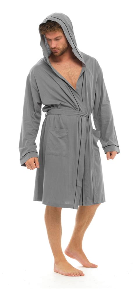 robe de chambre high mens lightweight hooded robe summer dressing gown 100