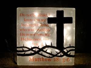 religious lighted glass block l christian cross decor crown