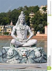 Shiva Statue In Rishikesh, India Editorial Stock Image ...